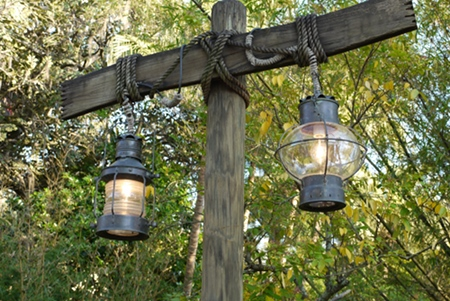 Jungle Cruise lights. Photo from Passport to Dreams Old & New.