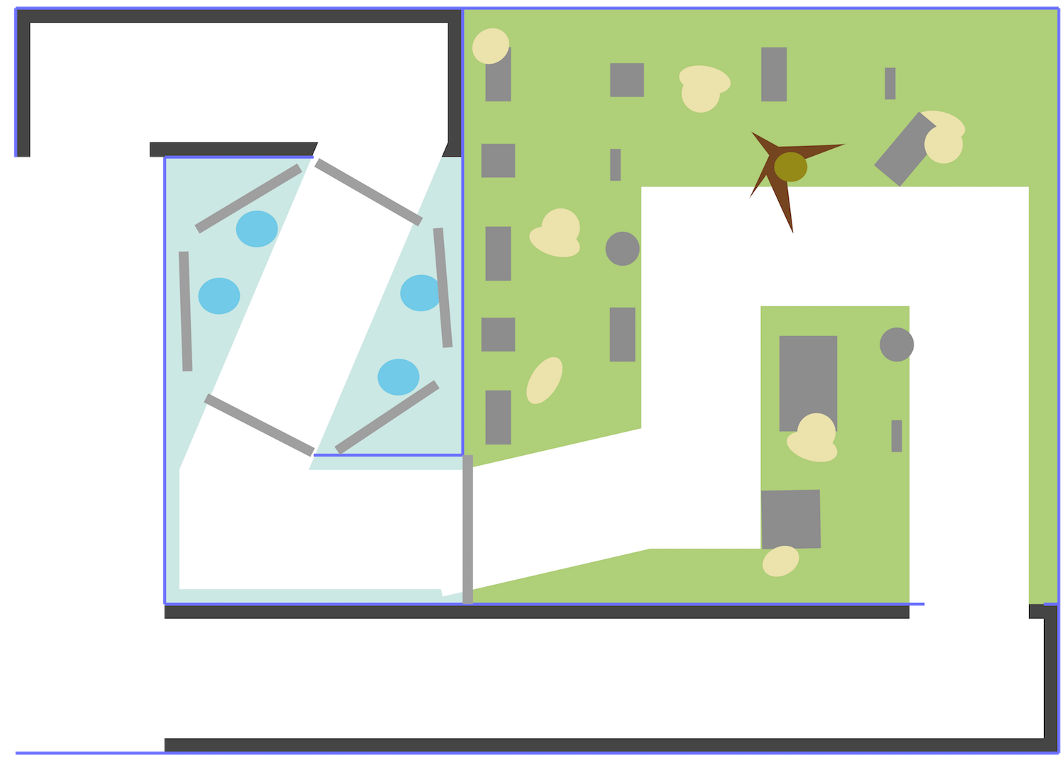 A floor plan for Graveyard Swing